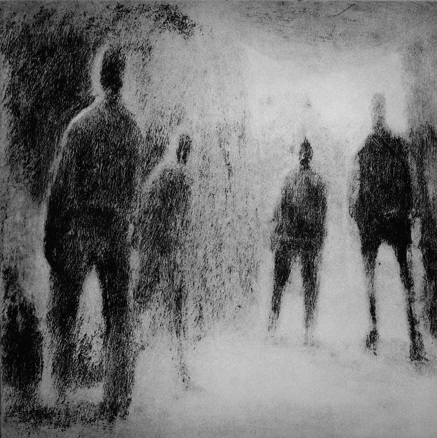 4 Men Drawing  - 4 Men Fine Art Print