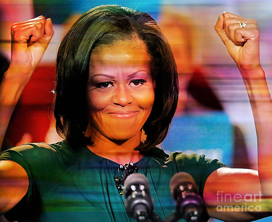Michelle Obama Mixed Media