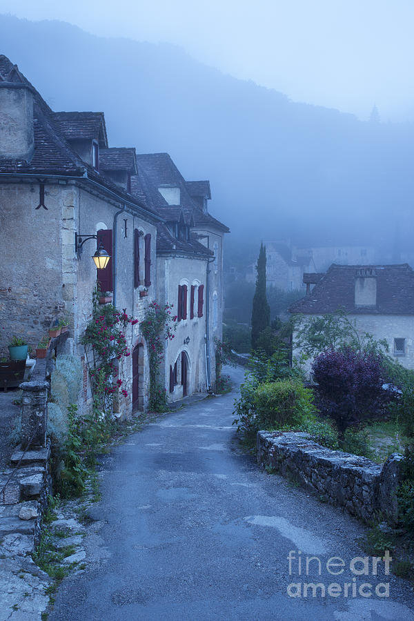 Misty Dawn In Saint Cirq Lapopie Photograph  - Misty Dawn In Saint Cirq Lapopie Fine Art Print