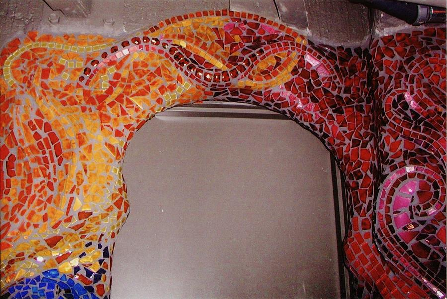 Mosaic Doorway Ceramic Art