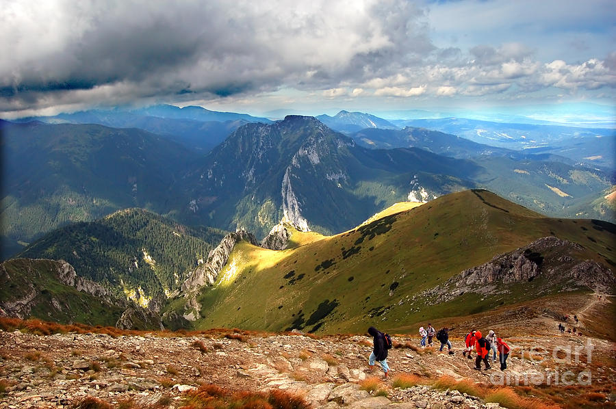 Autumn Photograph - Mountains Stormy Landscape by Michal Bednarek