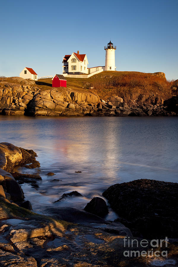 Nubble Lighthouse Photograph  - Nubble Lighthouse Fine Art Print