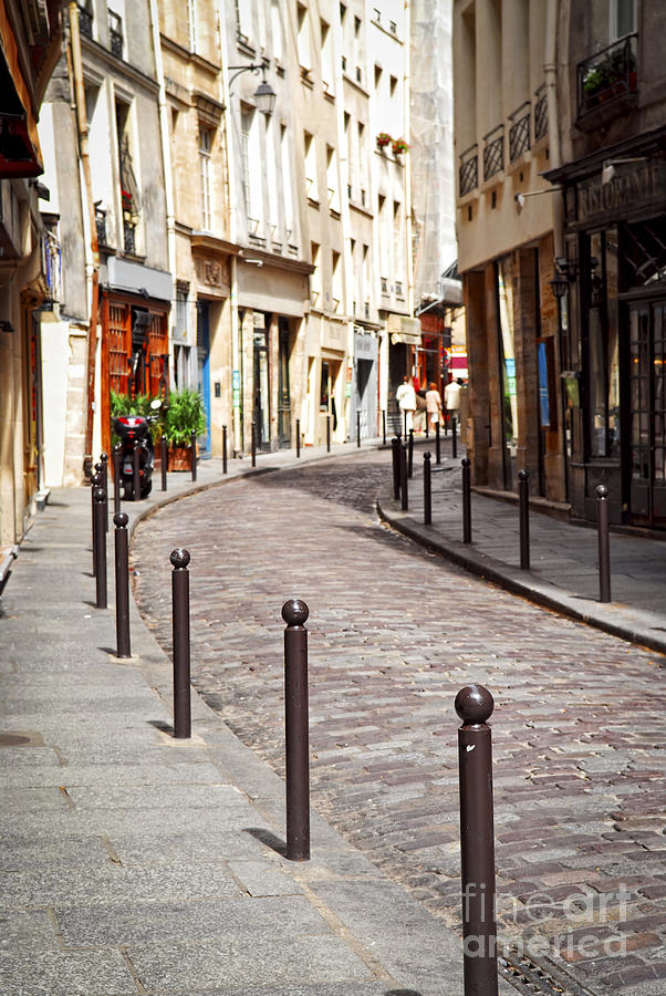 Street Photograph - Paris Street by Elena Elisseeva