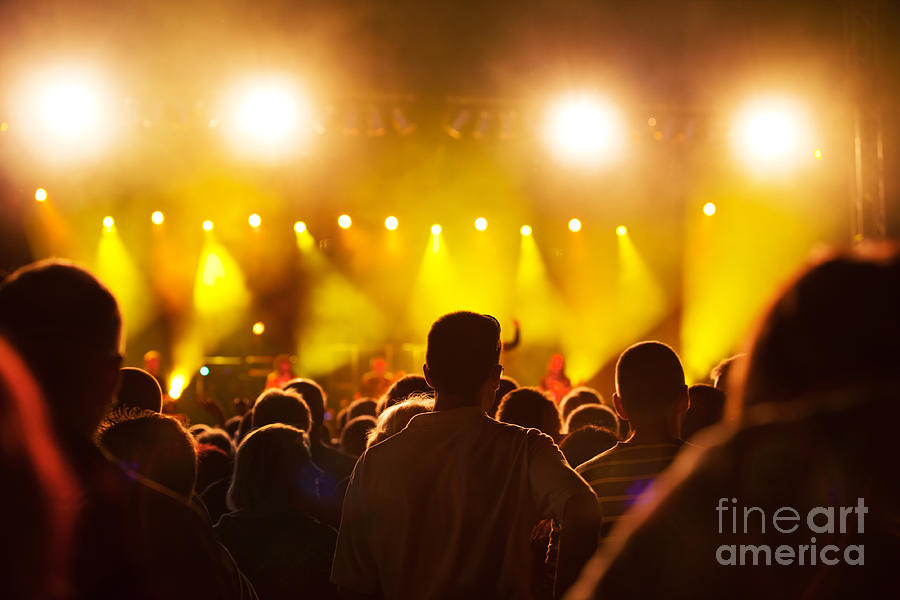 People On Music Concert Photograph