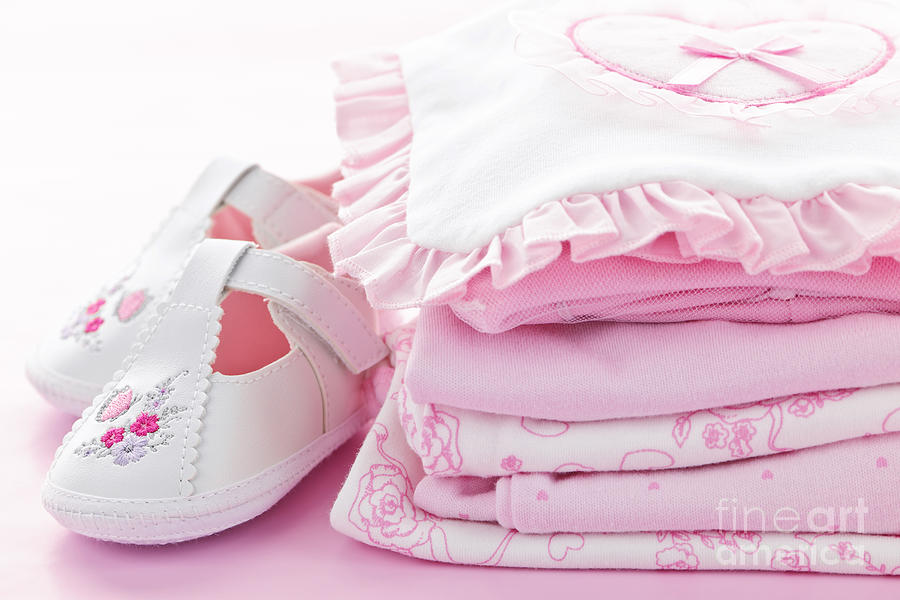 Pink Baby Clothes For Infant Girl Photograph