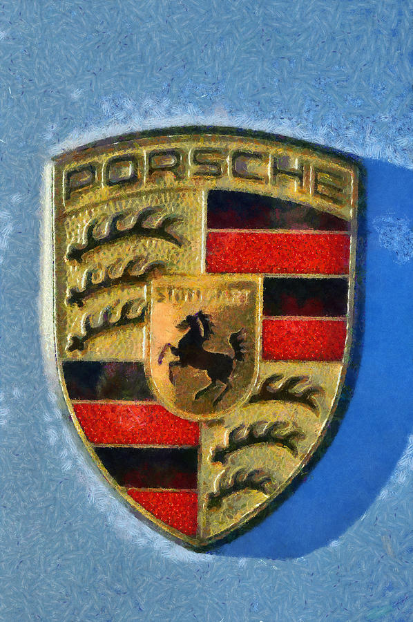 Porsche Badge Photograph