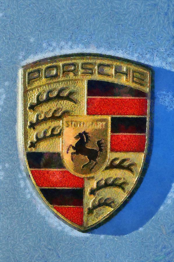 Porsche Badge Photograph