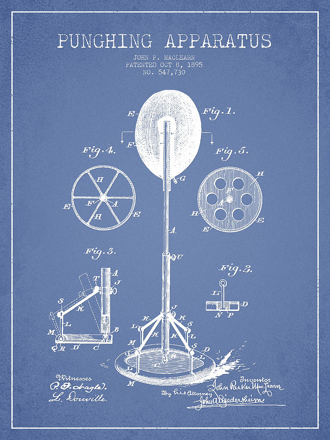Punching Apparatus Patent Drawing From1895 Drawing