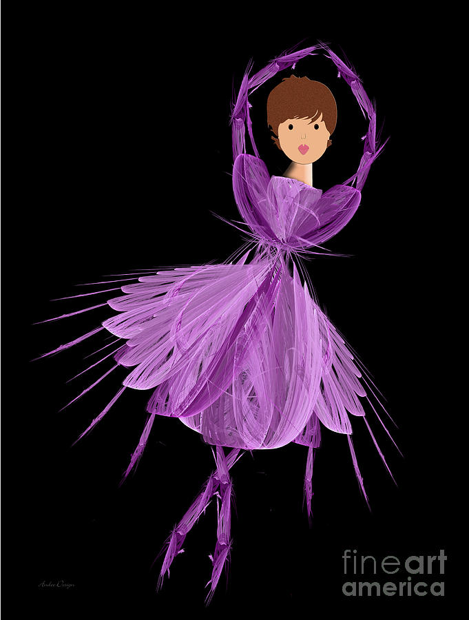 4 Purple Ballerina Digital Art