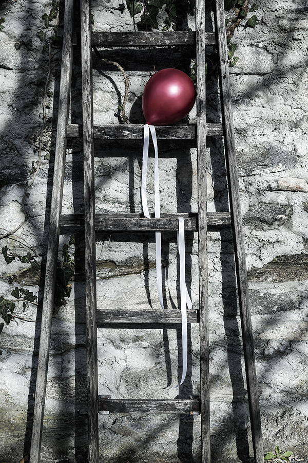 Balloon Photograph - Red Balloon by Joana Kruse