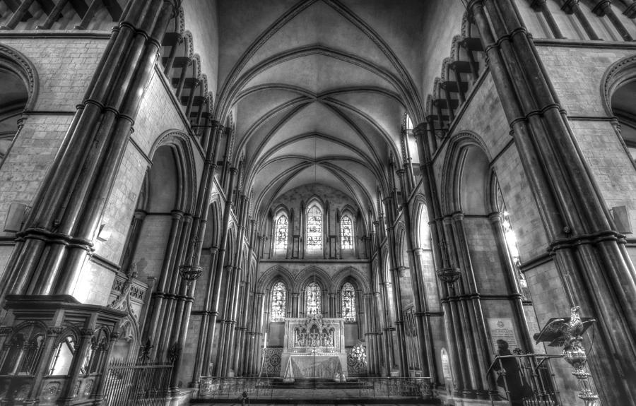 Rochester Cathedral Photograph - Rochester Cathedral Interior Hdr. by David French