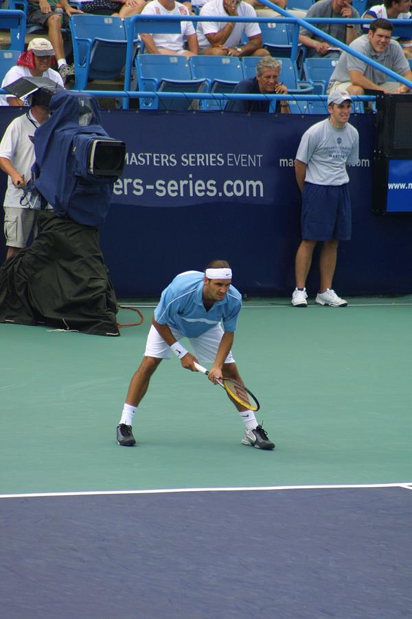 Roger Federer After 1st Slam Photograph