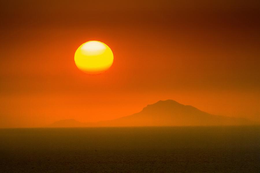 Sunset Photograph - Santorini Sunset by Bjoern Kindler