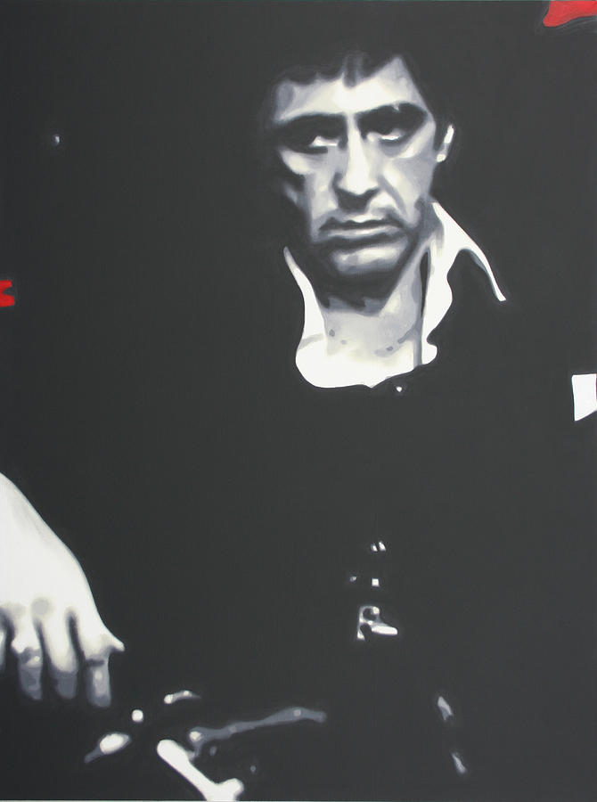 Ludzska Painting - Scarface 2013 by Luis Ludzska