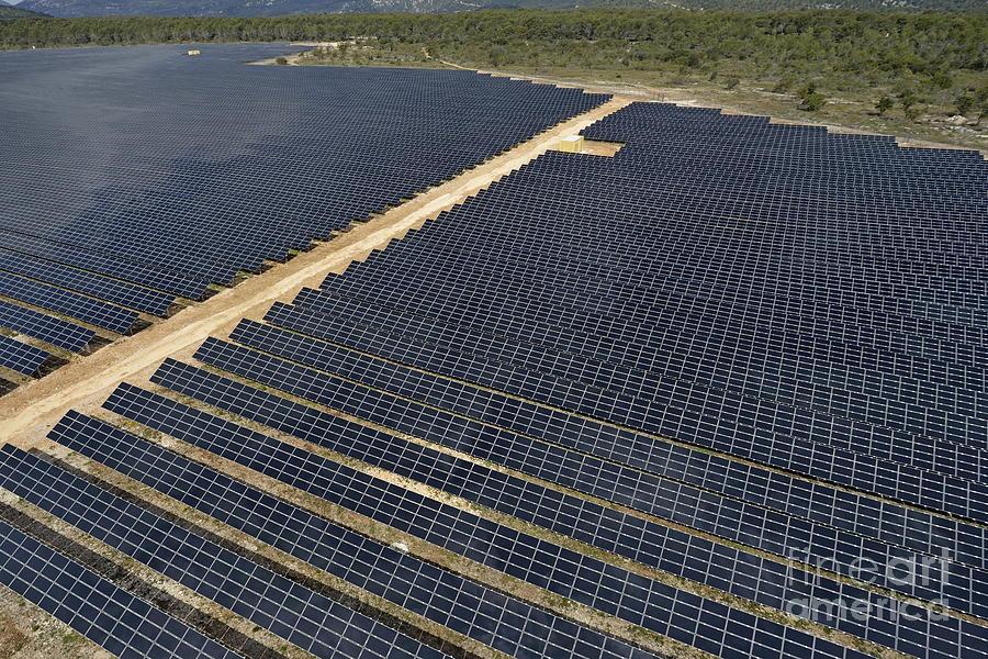 Solar Panels In Farm Photograph