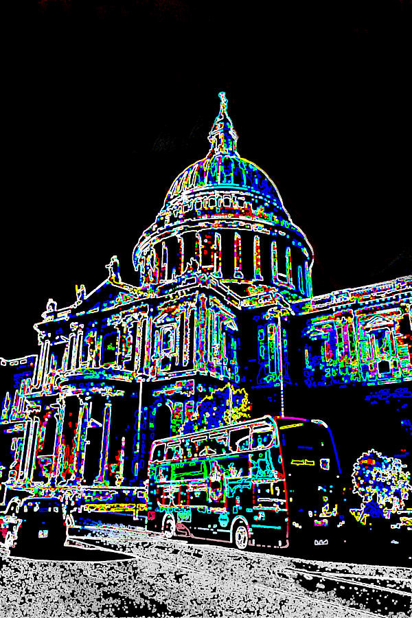 St Pauls Cathedral London Art Digital Art  - St Pauls Cathedral London Art Fine Art Print