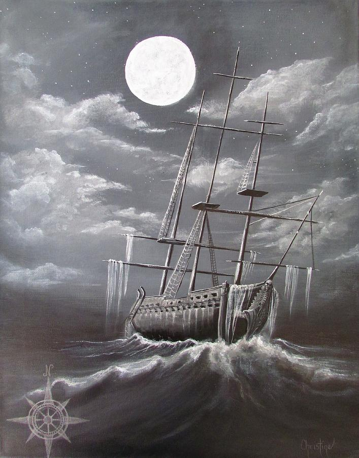 Pirate Ship  Painting - Storm Corrosion by Christine Cholowsky