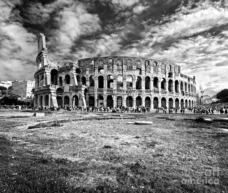 The Majestic Coliseum - Rome Photograph