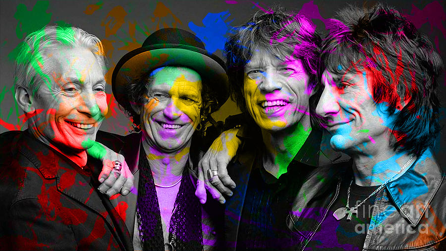 The Rolling Stones Digital Art