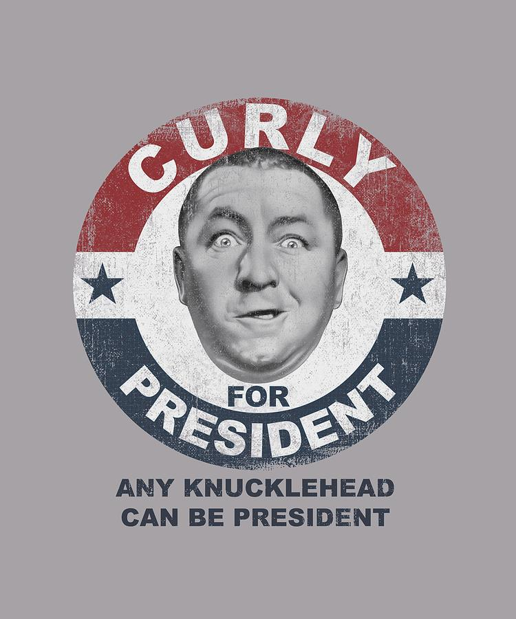 Three Stooges - Curly For President Digital Art: fineartamerica.com/featured/4-three-stooges-curly-for-president.html