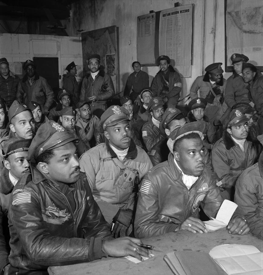 Tuskegee Airmen, 1945 Photograph by Granger