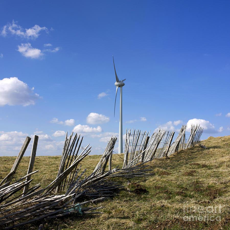 Outdoors Photograph - Wind Turbine by Bernard Jaubert