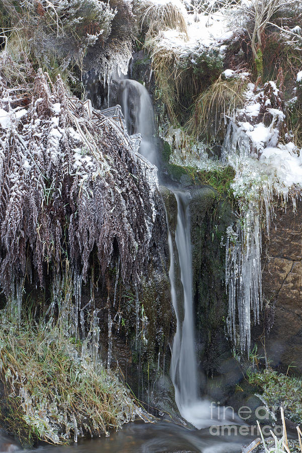 Winter Waterfall Photograph  - Winter Waterfall Fine Art Print