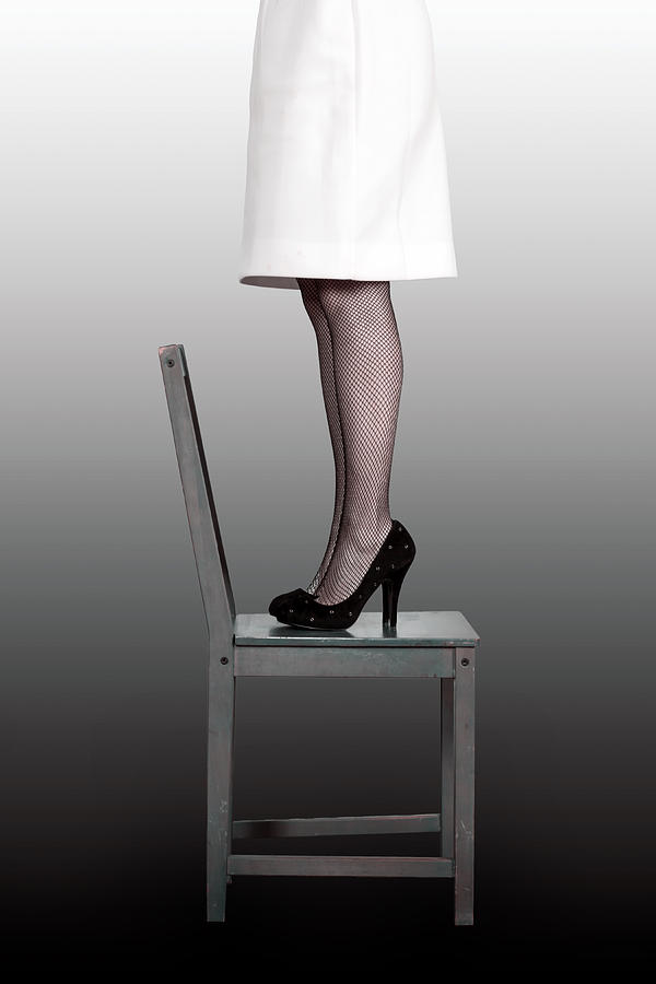 Woman On Chair Photograph