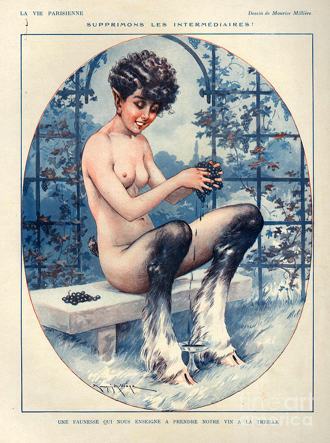 1920s France La Vie Parisienne Drawing