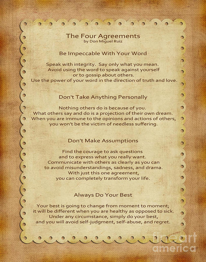 41- The Four Agreements Photograph