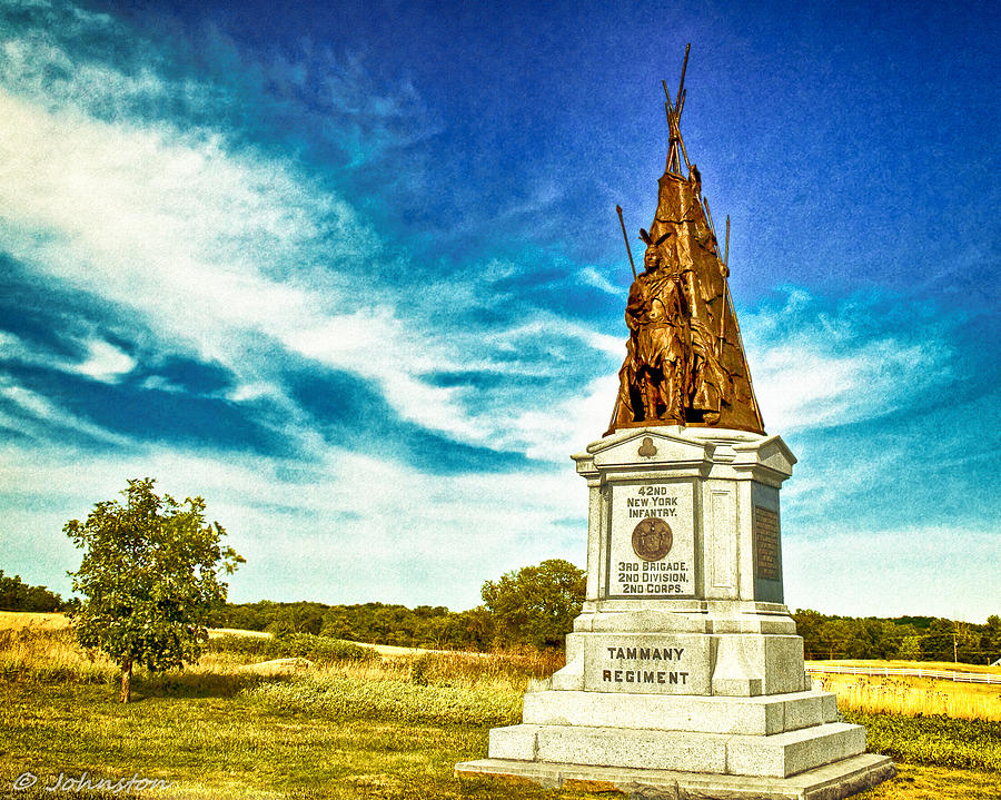 42nd New York Infantry Memorial Gettysburg Battleground Digital Art  - 42nd New York Infantry Memorial Gettysburg Battleground Fine Art Print