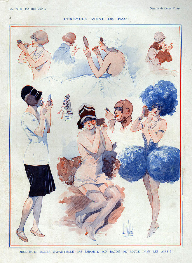 1920s France La Vie Parisienne Drawing  - 1920s France La Vie Parisienne Fine Art Print