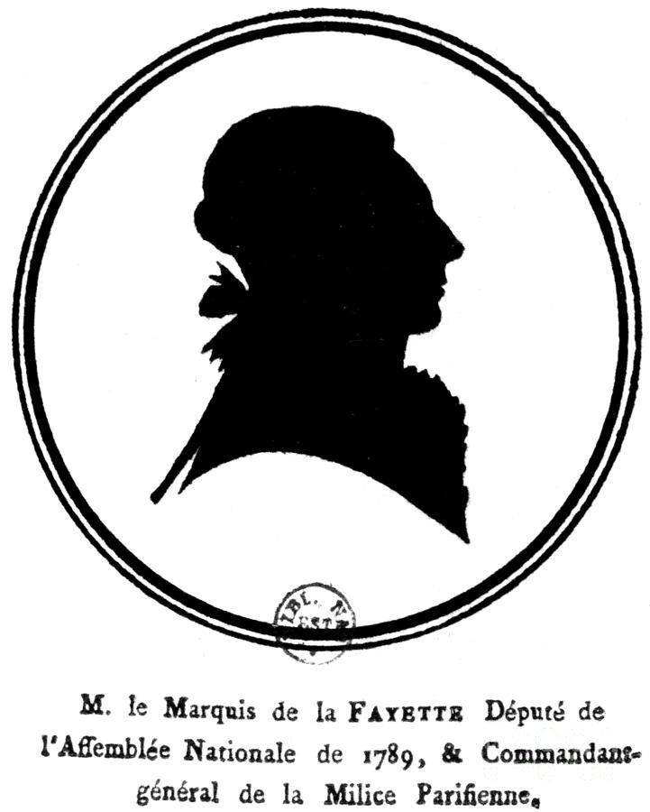 Marquis De Lafayette Drawing