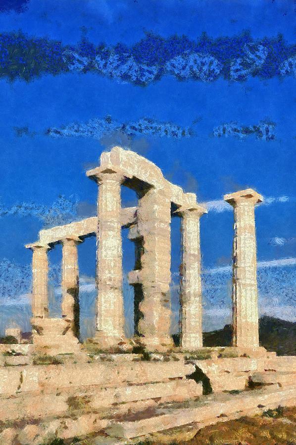 Poseidon Temple Painting