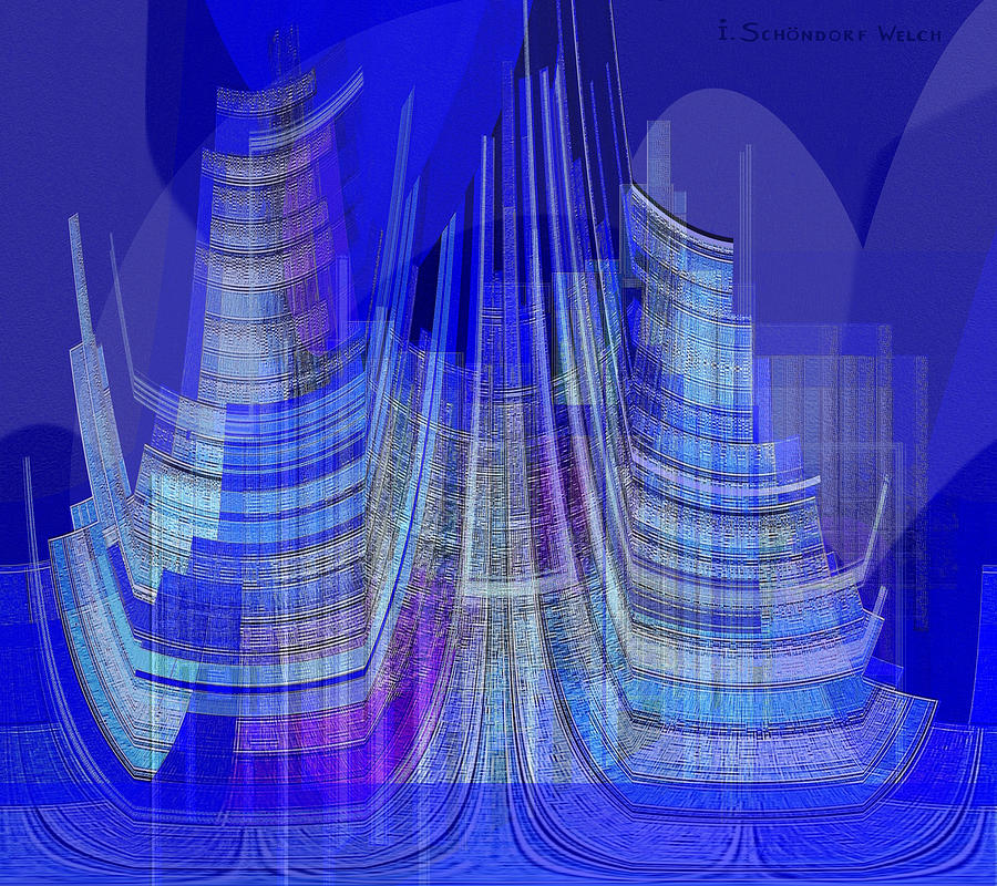 461 - City Of Future 2 Digital Art  - 461 - City Of Future 2 Fine Art Print