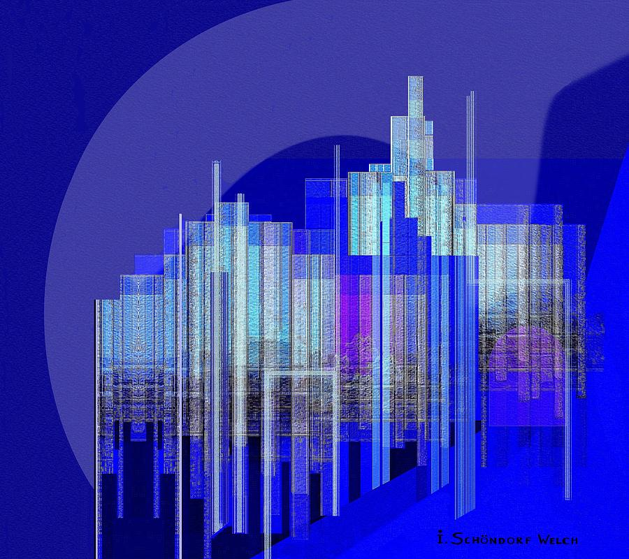 462 - Big City Abstract  Painting