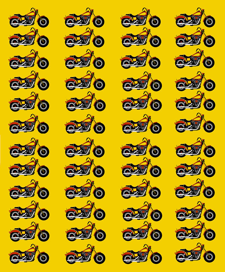 48 Harlies On Dark Yellow Digital Art - 48 Harlies On Dark Yellow by Asbjorn Lonvig