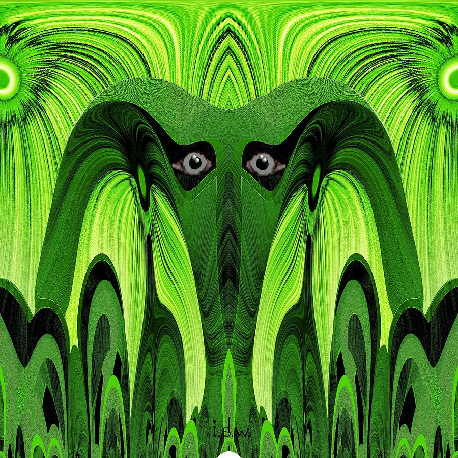 482 - Green Ghost Of The Woods Digital Art  - 482 - Green Ghost Of The Woods Fine Art Print
