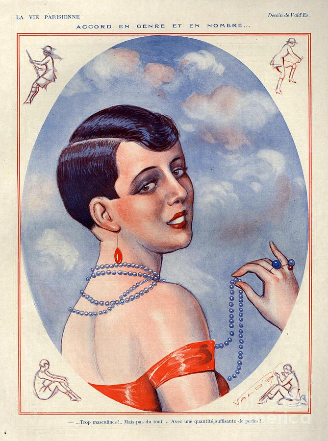 1920s France La Vie Parisienne Magazine Drawing