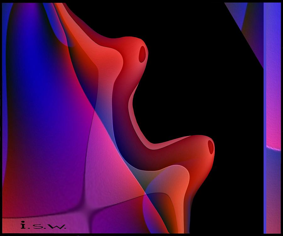 Abstract Digital Art - 495 - Red Hot Fantasy by Irmgard Schoendorf Welch