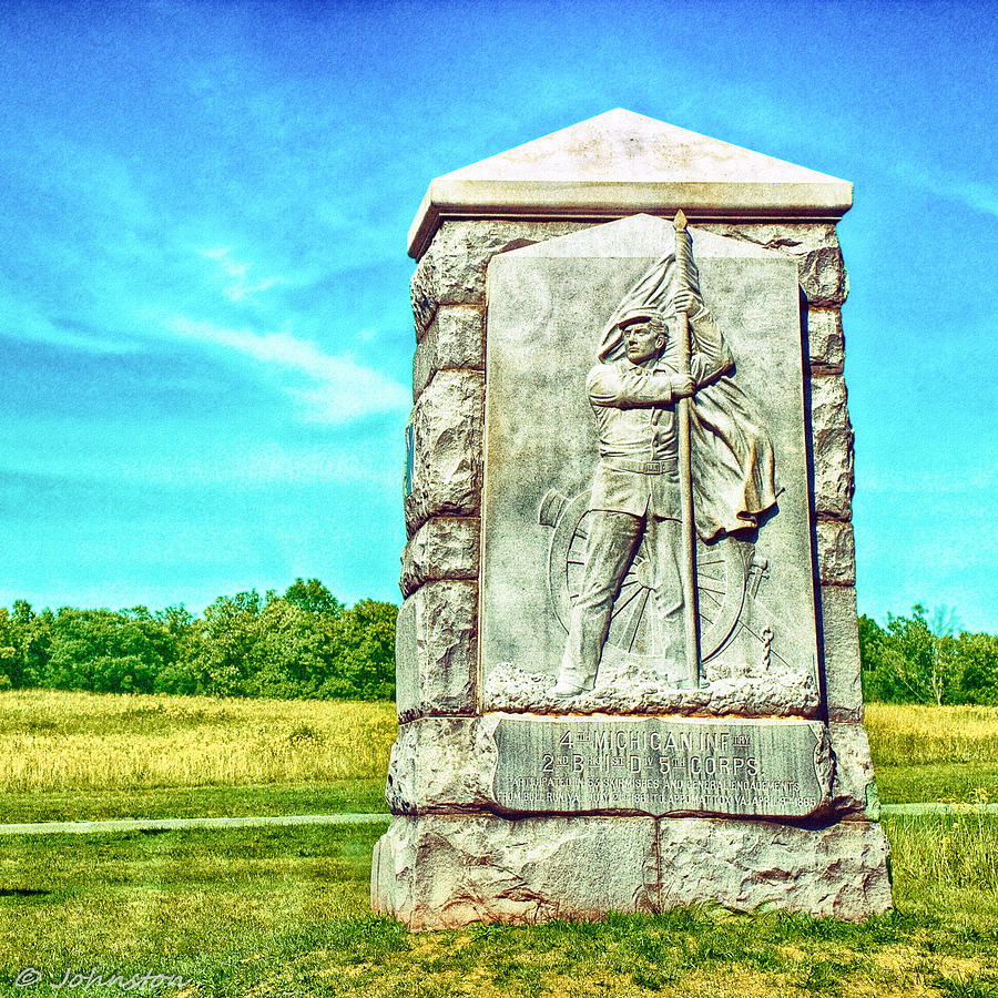 4th Michigan Infantry Memorial Gettysburg Battleground Photograph