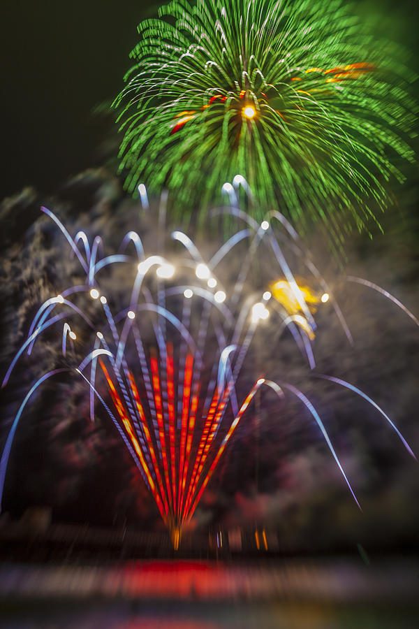 Fireworks Photograph - 4th Of July Through The Lens Baby by Scott Campbell