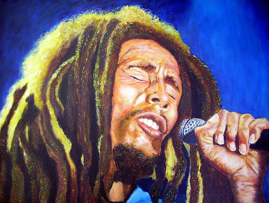 Bob marley painting by christian carrette for Bob marley mural