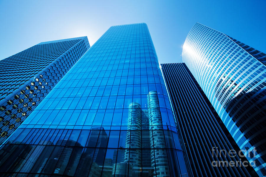 Business Skyscrapers Photograph  - Business Skyscrapers Fine Art Print