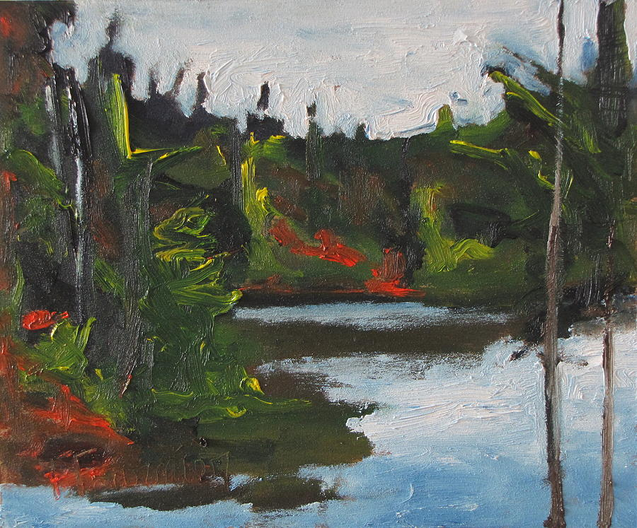 By The Pond Painting