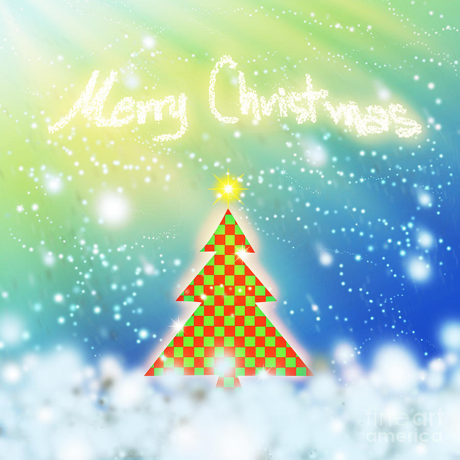 Chess Style Christmas Tree Digital Art