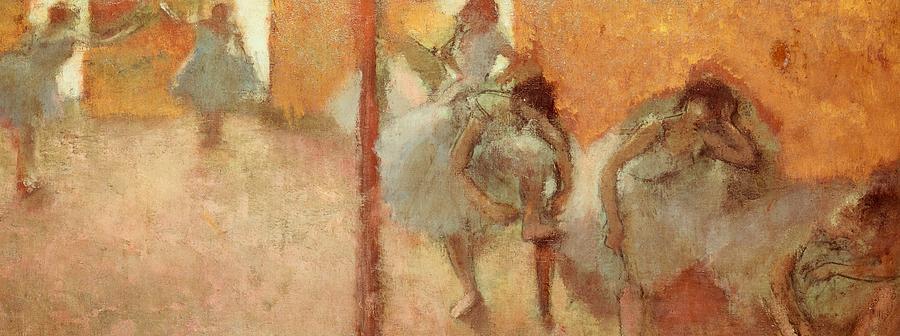 Art Painting - Dancers by Edgar Degas