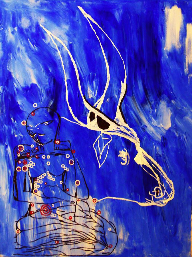 Dinka Livelihood - South Sudan Painting
