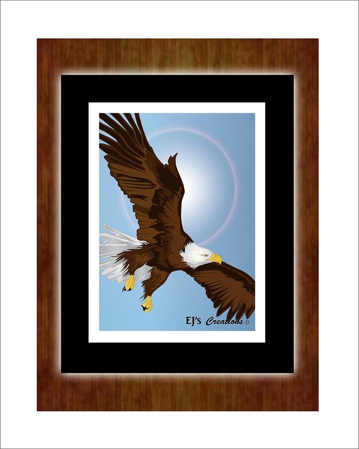 Eagle In Flight Digital Art  - Eagle In Flight Fine Art Print