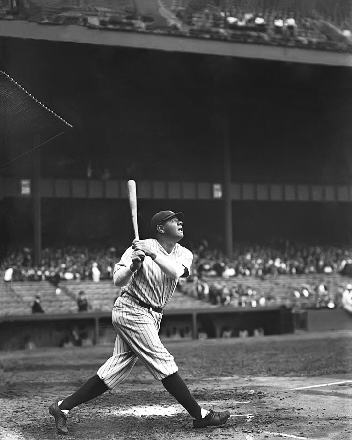 Baseball Photograph - George H. Babe Ruth by Retro Images Archive